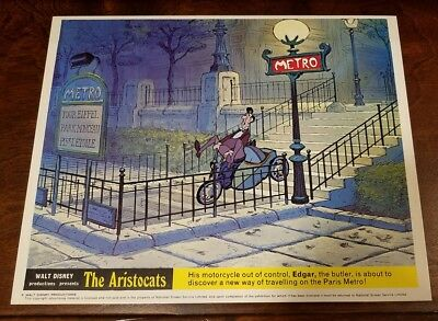 The Aristocats lobby card #6 Walt Disney - mini uk card - 8 x 10 inches