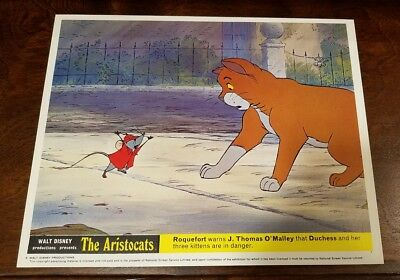 The Aristocats lobby card #7 Walt Disney - mini uk card - 8 x 10 inches