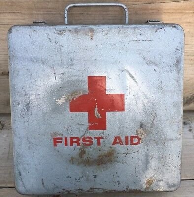 Vintage First Aid Kit With Some Contents