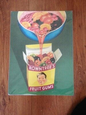 rowntrees enamel sign new