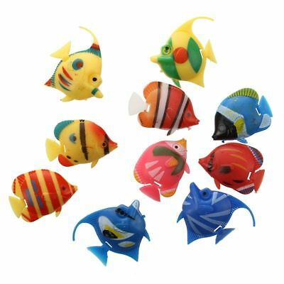 10X Floating artificial Fish decoration Decor aquarium fish tank supplies Y T3S7