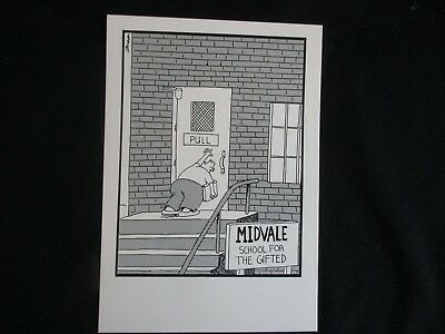 "The Far Side Postcard - Vintage 80's - ""Midvale School For The Gifted"""