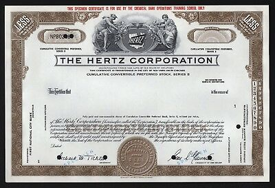 The Hertz Corporation - less than 100 Shares (Specimen)