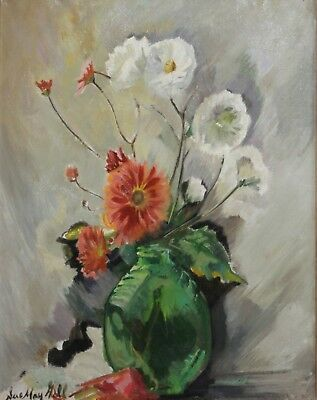 SUE MAY GILL-PAFA/Philly/TX Impressionist-Original Signed Oil-Floral Still Life