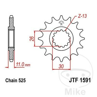 JT Front Sprocket 15T 525 Pitch JTF1591.15 Yamaha YZF-R1 1000 M Special 2015