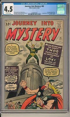 Journey Into Mystery #85 CGC 4.5 (OW) 1st Appearance of Loki
