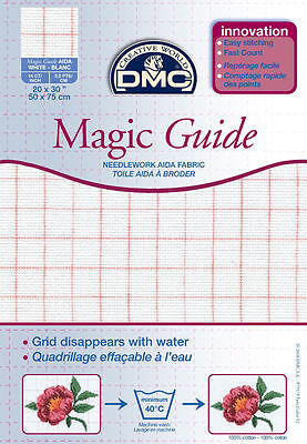 DMC MAGIC CROSS STITCH FABRIC AIDA BLANC 18ct 50cms x 75cms - DC38MG