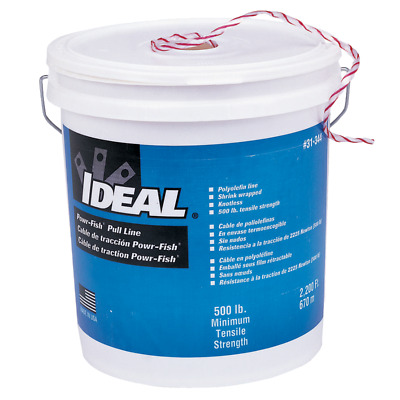 Ideal 31-344 Powr-Fish, Pull Line in a Bucket, 500lb. x 2,200'