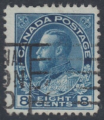 "Canada Scott #115  8 cent blue ""Admiral""   F"