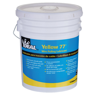 Ideal 31-355 Yellow 77 Wire Pulling Lubricant (5-Gallon Bucket)