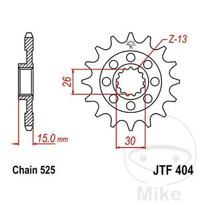 JT Front Sprocket Racing 15T 525 Pitch JTF404.15 BMW S 1000 RR ABS 2014