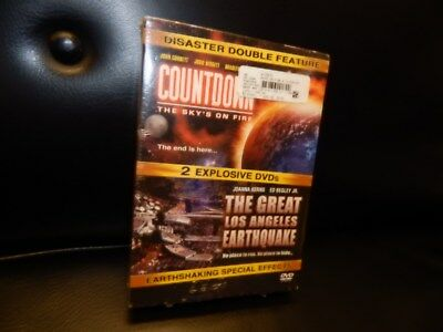 Disaster Double Feature DVD set Countdown & The Great Los Angeles Earthquake NEW
