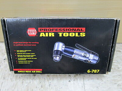 NEW Napa Professional Air Tools 6-787 3/8'' Reversible Angle Head Air Drill