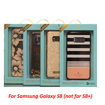 innovative design c9657 d5148 KATE SPADE NY For Samsung Galaxy S8+ & S8 Saffiano Black / Gold OR Glitter  Case