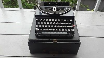 Remington Model 5 Portable Typewriter Serial No. V692883  With Case 1930's