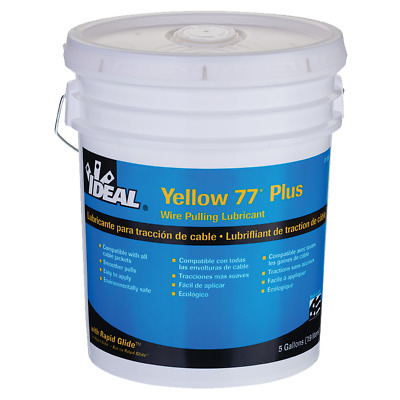 Ideal 31-395 Yellow 77 Plus Wire Pulling Lubricant (5-Gallon Bucket)