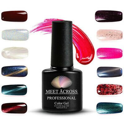 Sequin Glitter Gel Gelish Polish Nail Art UV LED Soak-Off Varnish Manicure 7ML