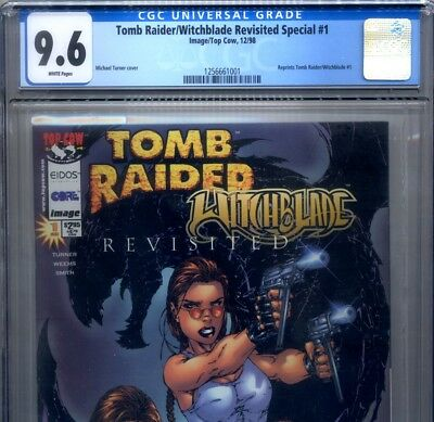 PRIMO:  TOMB RAIDER / Witchblade #1 Revisited Special NM+ 9.6 CGC Top Cow comics
