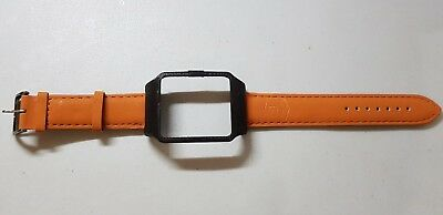 Sony SmartWatch 3 SWR50 Black Housing (Adaptor) & Brown Matte 8 Leather Strap