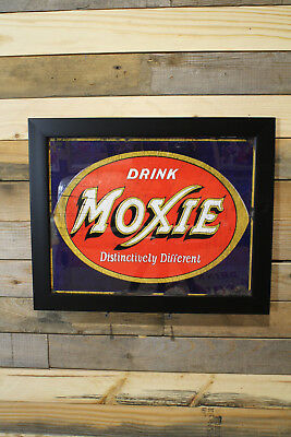 Restomod of old Moxie Cola Sign Framed Fine-Art Print 11x14 New Lower Price!
