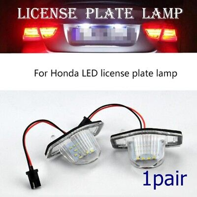 Rear License Number Plate Light Lamp External Replace LED For Honda Jazz/Odyssey