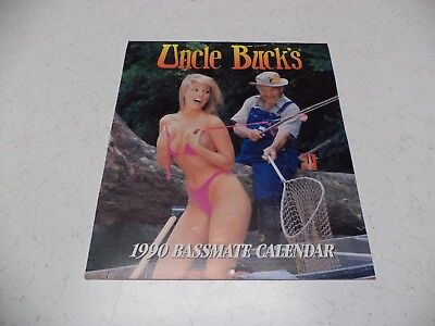 1990 Uncle Buck'S Bassmate Calendar Bass Pro Shops