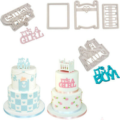 Cot Cookie Cutter Biscuit Cake Mold It'S A Girl Boy Baby Shower Decor Fondant CN