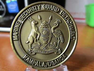 Marine Security Guard Detachment Kampala Uganda USMC MSG Challenge Coin #4696