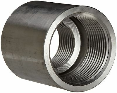 "Stainless Steel 304 Pipe Fitting, Reducing Coupling, Class 1000, 1/2"" X 1... New"