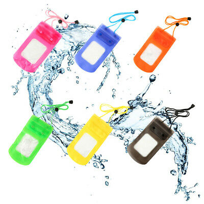 2PCS Universal Waterproof Case Cover Swimming Bag Pouch Transparent Mobile Phone