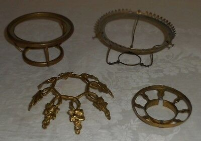 """Lot Over Collar Prism Ring 3 1/4"""" 4"""" 5"""" Fitter Set Screw Shade Ring Lamp Parts"""