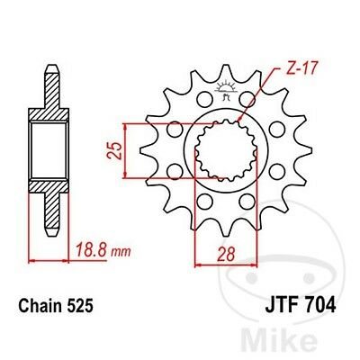 JT Front Sprocket 17T 525 Pitch JTF704.17 Aprilia SL 1000 Falco 2003-2004