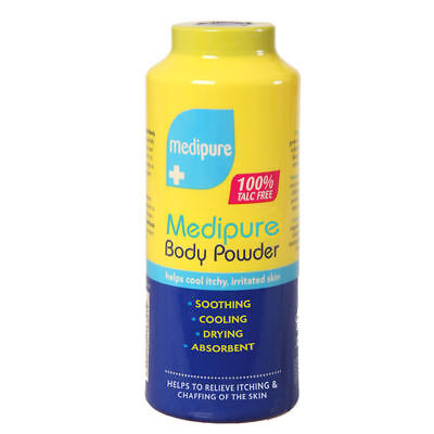 MEDIPURE SOOTHING BODY POWDER TALC FREE MEDICATED TREATMENT ITCHY SKIN 200g