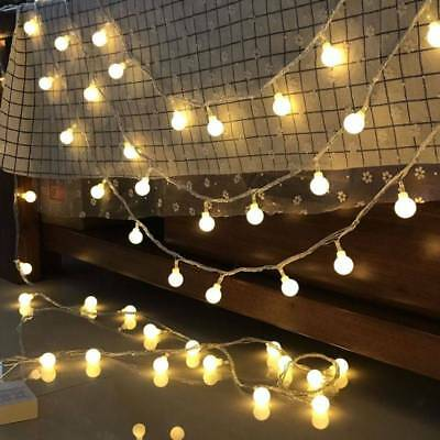 3M 6M 10M Fairy LED String Lights Christmas Round Ball Blubs Wedding Party Lamp