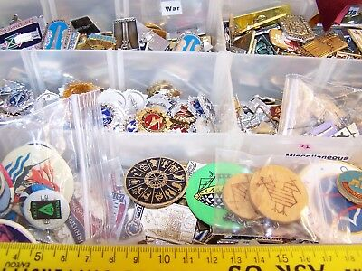 100 different Russia Soviet USSR  pins, c.1960's-1980's. Wide variety.