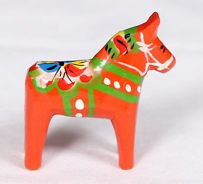 "Traditional Wooden Swedish Dala Horse - Red 1"" (3cm) New"
