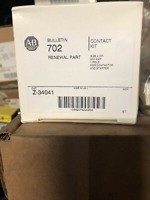 Allen Bradley Bulletin 702 Z-34041 Single Pole Size 4 Contact Set 200 Amp