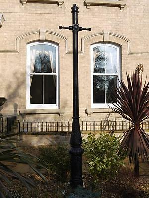 Victorian Large Cast Iron ladder bar Lamp Post 248cm  black lamp post