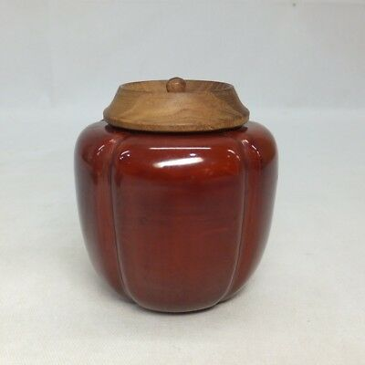 E950: Japanese lacquer ware powdered tea container called AKODA-NATSUME