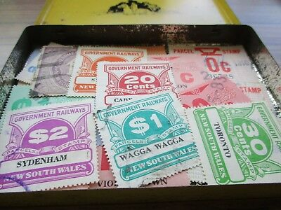 ESTATE: Parcel Railway stamps in tin unchecked unsorted  (3883)
