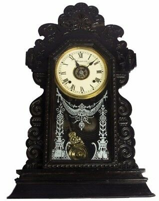 Antique Look Wooden Art Collectible Home Decor Pendulum Wall Clock HB 085