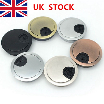 50mm/60mm/80mm Round Wire Box Office Desk Line Hole Cover Outlet Wire Cover