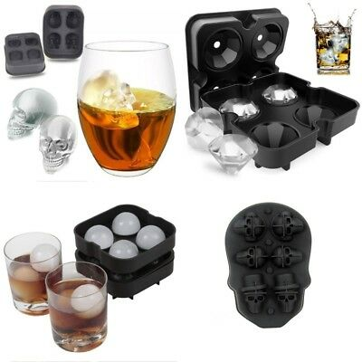 Whiskey Ice Frozen Cube Ball Tray Brick Diamond Maker Mold Sphere Mould Silicone