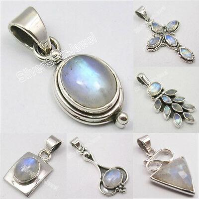 Choose STYLE, Silver MOONSTONE Pendant VARIATION LISTING Columbus Day Gift