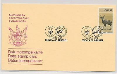 LI51937 South West Africa 1982 Belgica stamp expo postcard used