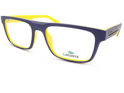 LACOSTE Matte Blue over Matte Yellow 54mm RX Optical Glasses Frame L2797 424