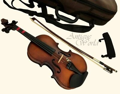 Lovely Three Nickel Stringed Beautiful Antique Collectible Beginner Violin OA 01