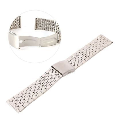 18-22mm Stainless Steel Solid Watch Band Strap Bracelet Curved End Band UK