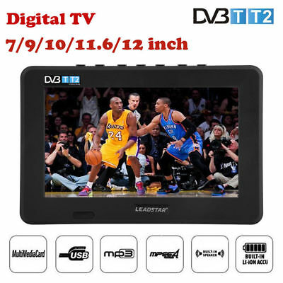 "MOTORHOME CARAVAN BOAT 12V 7"" -12""Inch Portable LCD Freeview TV 12 Volt USB PVR"