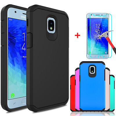 For Samsung Galaxy J3 V 2018/Orbit/Star/Achieve Case Cover With Screen Protector
